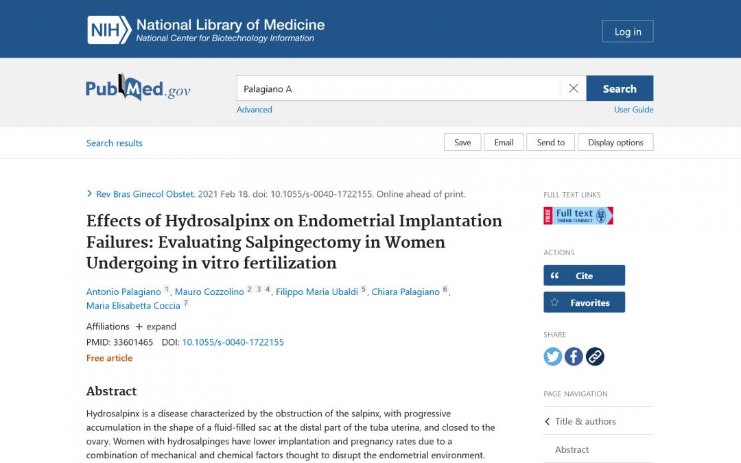 Effetti dell'idrosalpinge sui mancati impianti embrionali